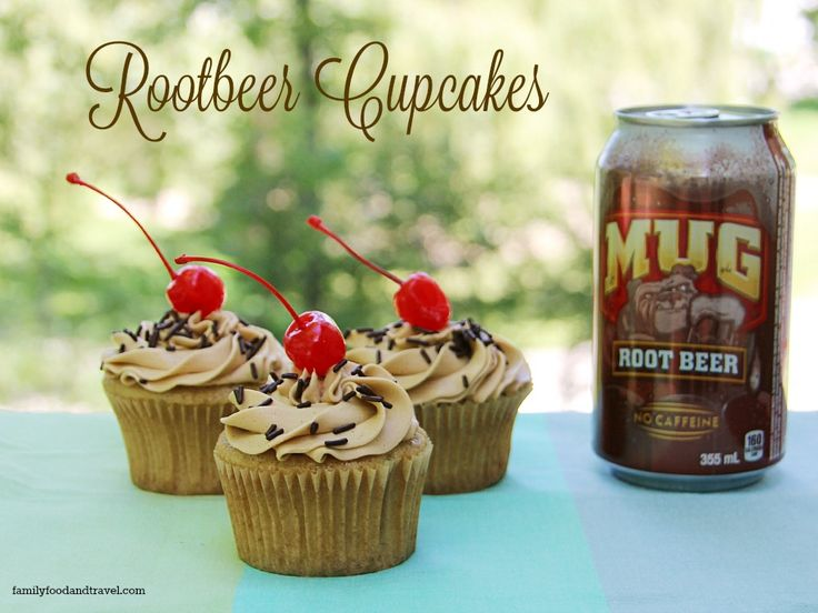 Looking for a delicious pop inspired cupcake? These Rootbeer Cupcakes are bursting with flavour and topped with a rootbeer drizzle.