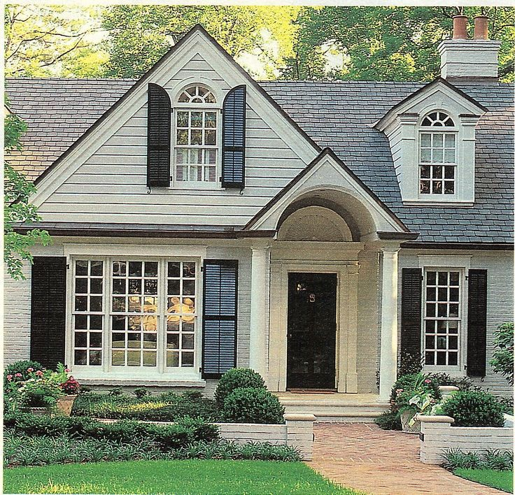 Beautiful Black Windows On House