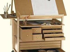 le meuble atelier d art sur le salon marie claire id es marie claire artist studios and atelier. Black Bedroom Furniture Sets. Home Design Ideas