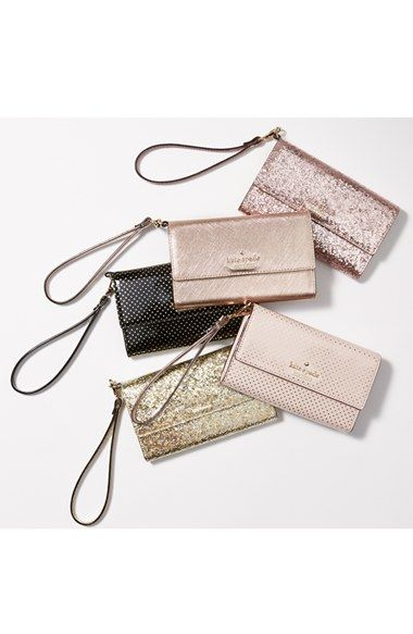 kate spade new york 'cedar street' iPhone 6 leather wristlet | Nordstrom