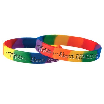 Wild About Reading Silicone Bracelet (Rainbow)  Item # GN1167V