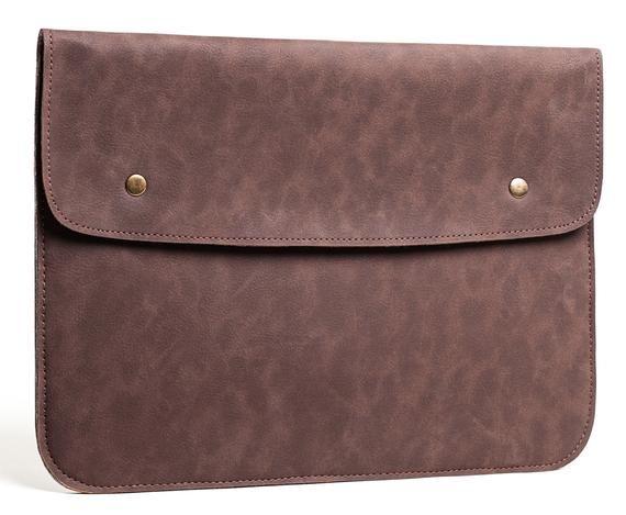Vintage Dark-Brown Macbook Sleeve Case – Macbook Air & Pro Felt Case- Sleeve Case Cover Bag for Appl