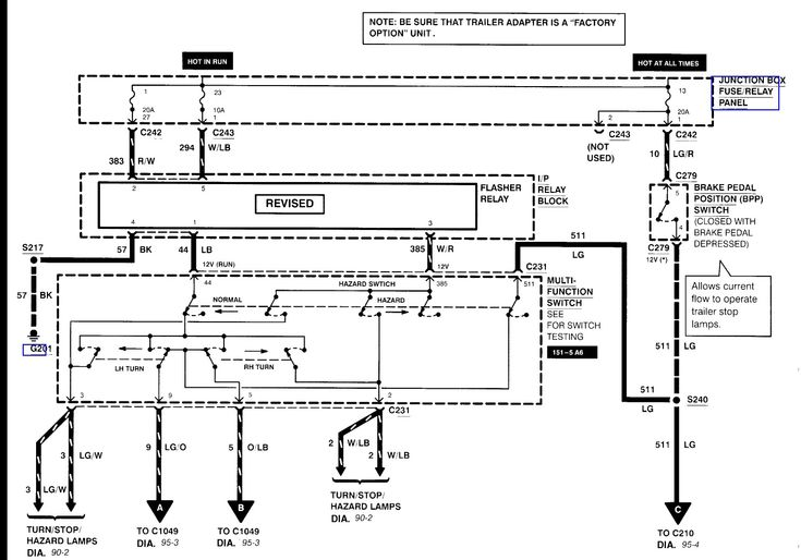 2000 Ford F350 Tail Light Wiring Diagram In 2020
