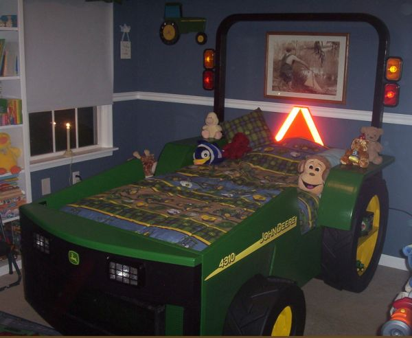 Boys Construction Trucks And Tractor Bed Ideas
