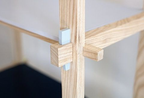 Inspired by Japanese joinery.                                                                                                                                                                                 More