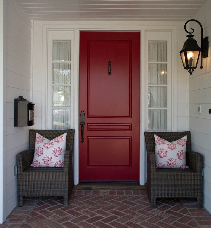 Best Red For Front Door: 12 Best Front Doors On Red Brick Images On Pinterest