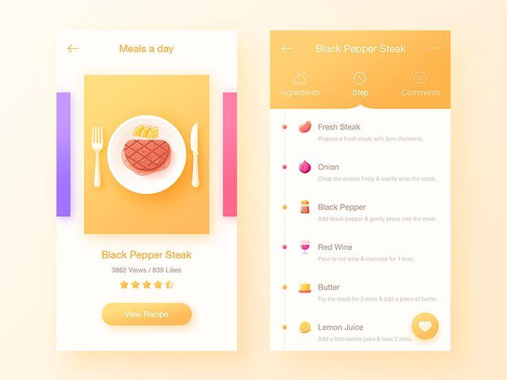 Food App2 by uiking - Dribbble
