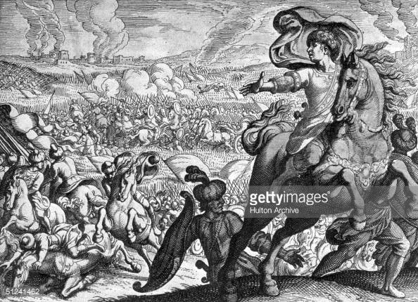 News Photo : Circa 333 BC, Darius III's soldiers fleeing from...