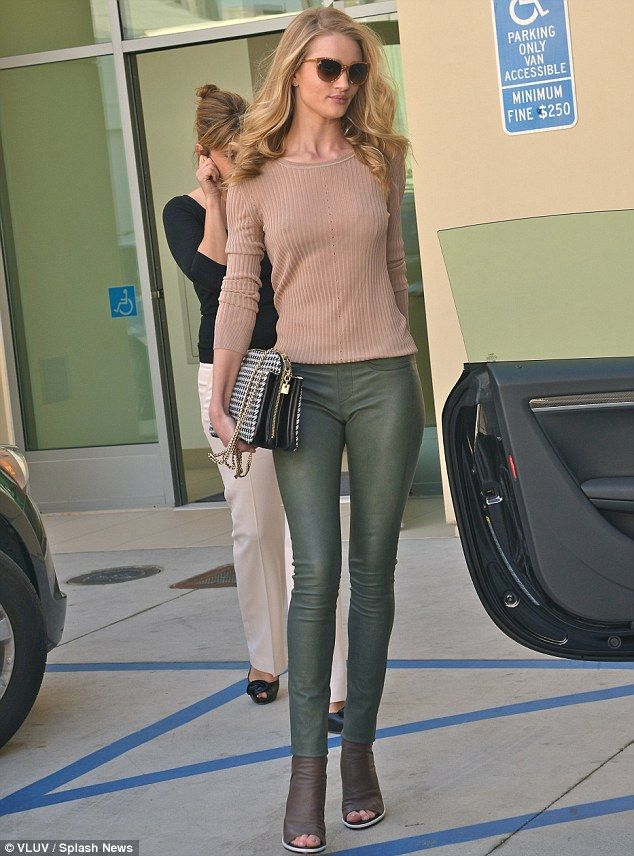 Spot of shopping: Rosie Whiteley-Huntington was spotted at the Valentino store in Beverly Hills on Thursday