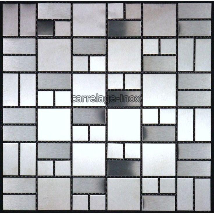 mosaique inox carrelage inox pour cuisine et salle de bain - Carrelages Brun 70s Salle De Bains