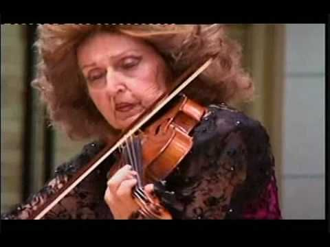 At about 55 seconds into the video, Ida Haendel begins her stunning rendition of the Danse Russe from Tchaikovsky's Swan Lake. (Follow the link to YouTube to listen https://www.youtube.com/watch?v=bqX-BYLhhqk)