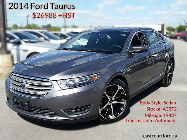 Used This 2014 Model Ford Taurus With Grey Exterior Black Interior Color East Court Ford