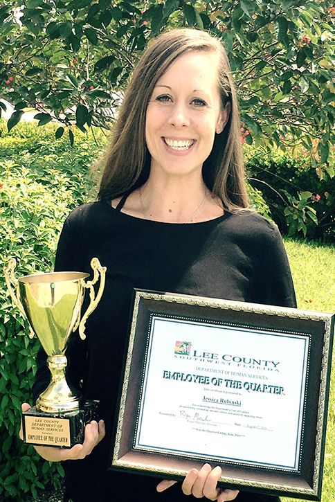 """""""The professors, staff and fellow students [at Hodges] helped challenge me to take my ideas and expand them.""""  As the youth services coordinator at Lee County Human and Veteran Services, Jessica Rubinski has taken the skills learned at Hodges University to help youth make positive choices. #HodgesU #success #leadership"""