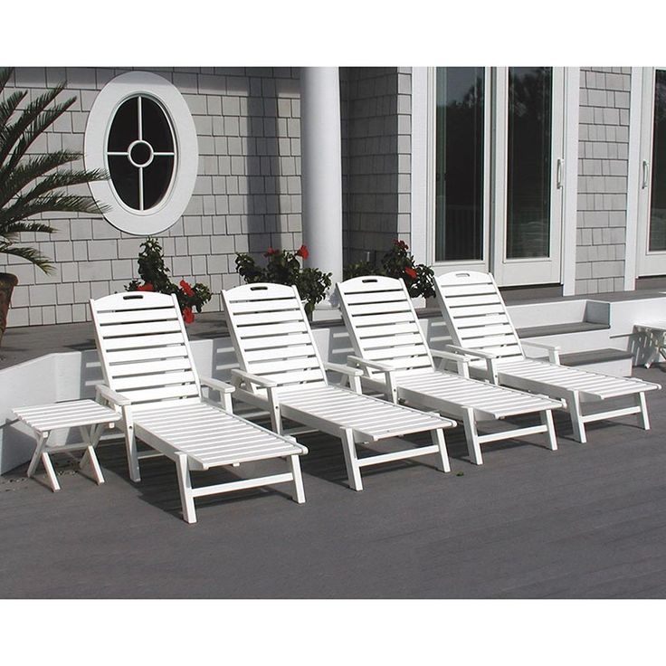 Outdoor Patio U0026 Pool Chaise Lounge With Arms | POLWOOD Best Outdoor All  Weather Furniture Available At Vermont Woods Studios | Pinterest |  Weathered ...