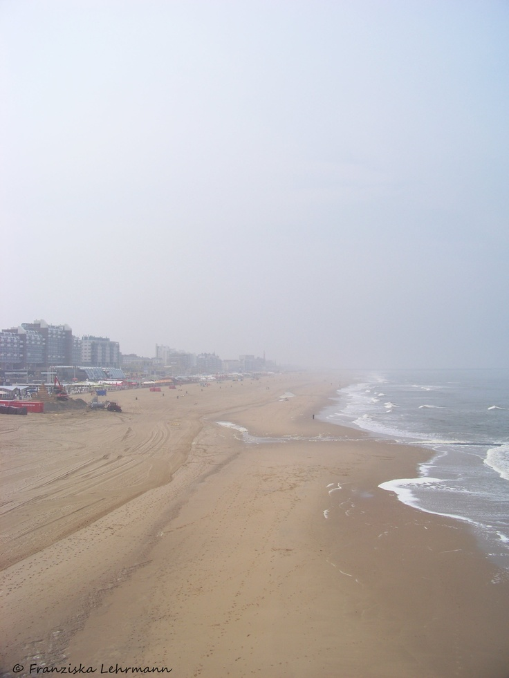 Scheveningen (and The North Sea), The Netherlands - and that's pretty much what it looked like when I saw it. Brrrrr!!   :-)
