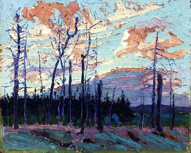 Burnt Land at Sunset Tom Thomson - 1915