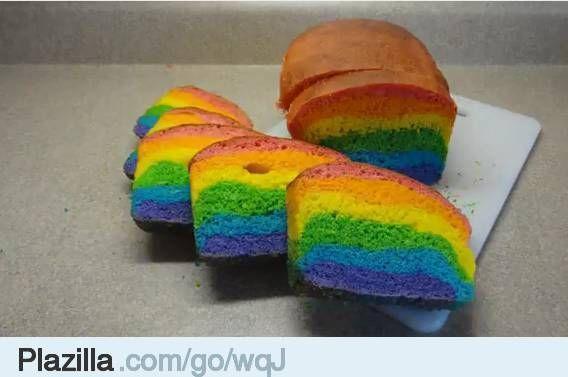 Regenboog cake, taart, koekjes - Plazilla.com