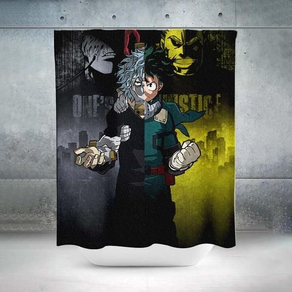 One Justice Kv Shower Curtain My Hero Academia 3d Printed Shower