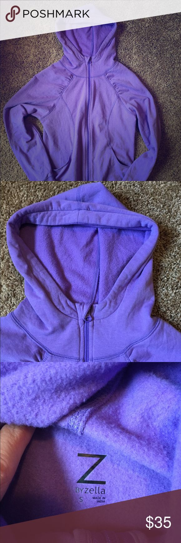 Zella Yoga Hoodie Fall is coming, time to add some hoodies to your yoga wardrobe for the trek in and out of your favorite studio. Get your zen on with this fun purple hoodie. It's so soft you'll never want to take it off. It also has thumb holes Zella Tops Sweatshirts & Hoodies