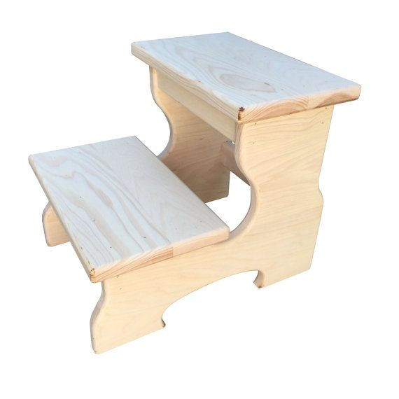 Unfinished Wood step stool kids step stool by CandlewoodFurniture  sc 1 st  Pinterest & Best 25+ Rustic kids step stools ideas on Pinterest   Farmhouse ... islam-shia.org