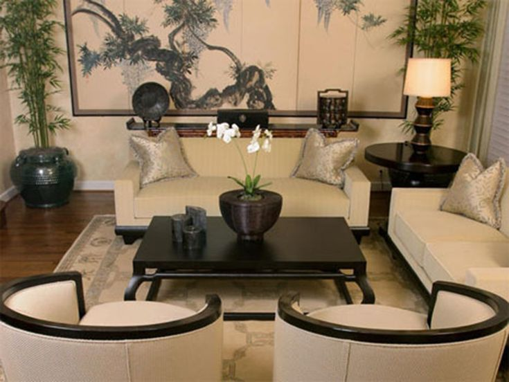 Beautiful modern japanese living room japanese inspired for Chinese home decorations