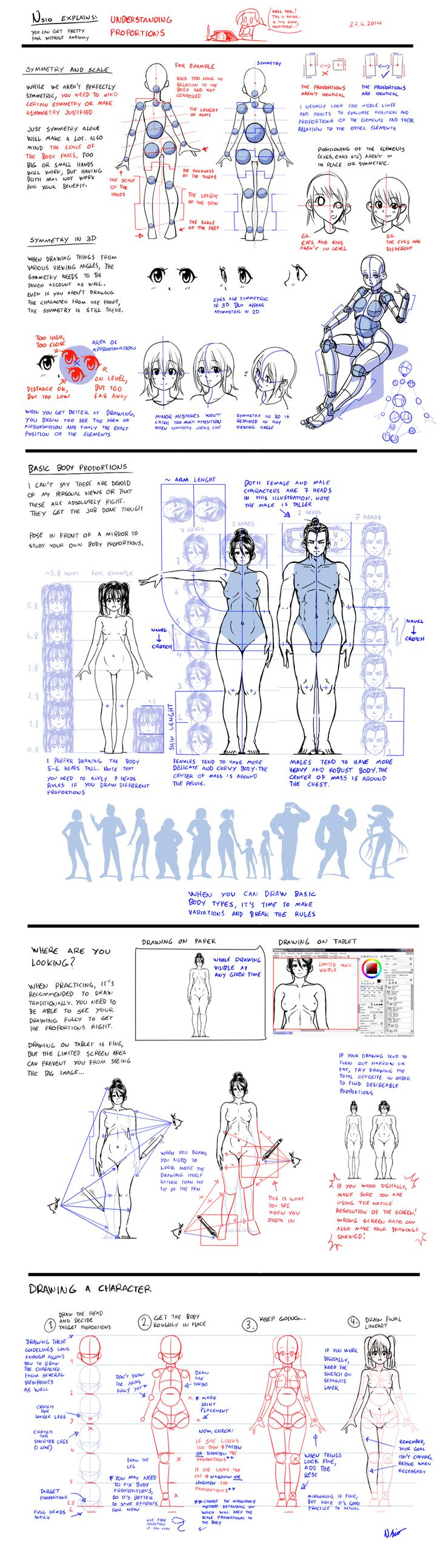 Nsio explains: Understanding Proportions by Nsio on DeviantArt via cgpin.com