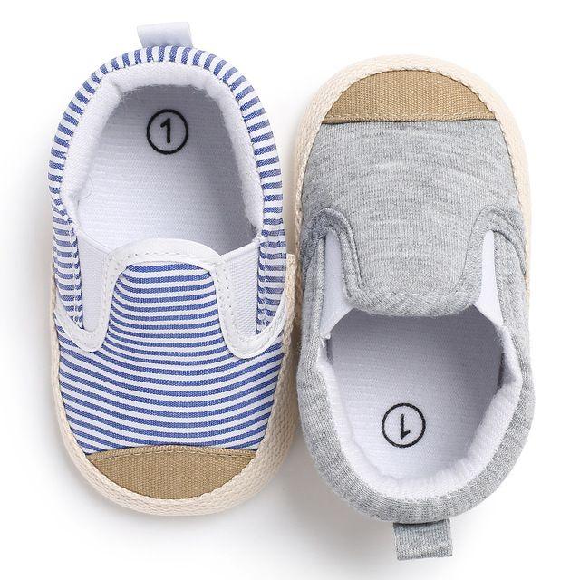 eb1986983 Azul Sapatos Meninos Listrado Esportes Dos Miúdos Tênis Mocassins Infantis  Do Bebê Recém-nascido Da Menina Da Criança Botas Casuais Chaussures bebe  sapatos