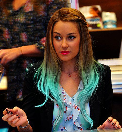 Lauren with turquoise tips... LOVE!!