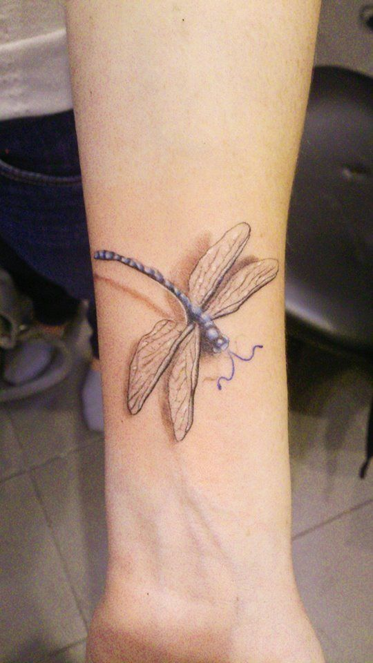 3d dragonfly tattoo on wrist . Artist Philip at http://www.exotictattoopiercing.com/ https://www.facebook.com/Exotic-Tattoos-and-Piercings-418666600080/timeline/ For enquires kindly contact Philip at exotic@exotictattoopiercing.com.