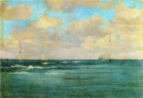 Bathing Posts - James McNeill Whistler
