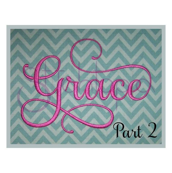 Bought this beautiful font today - only $3 - stitches out beautifully!!  Grace 2 Monogram Set  2 3 4 by StitchtopiaInc on Etsy