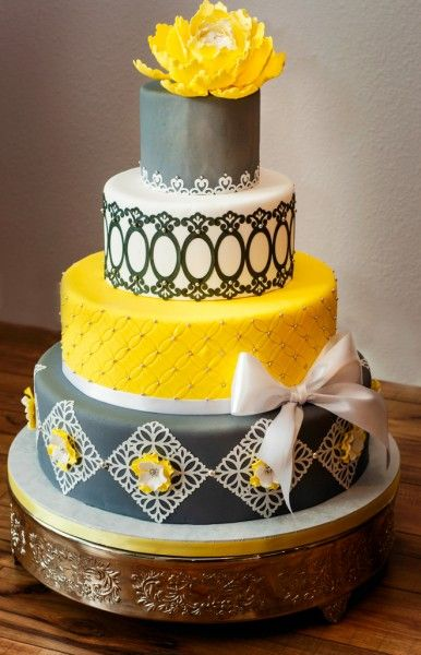 wedding cakes yellow and grey 16 best icing images sweet accents cake contest images on 26162