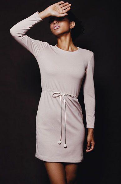 Dzianinowa sukienka z wiązaniem rozmiary S, M, L w Kasia Miciak design na DaWanda.com #niezchinzpasji.