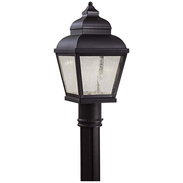 Mossoro 16 3 4 High Black Led Outdoor Post Light 6d114 Lamps Plus In 2020 Led Lantern Outdoor Post Lights Lantern Head