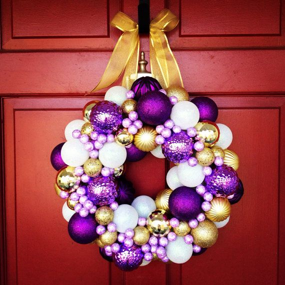 JMU Wreath by LeethsWreaths on Etsy, $75.00