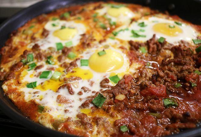 Keto Ground Beef Baked Eggs Breakfast Skillet Easy Gluten Free Recipe In 2020 Keto Recipes Dinner Gluten Free Recipes Easy Easy Gluten Free