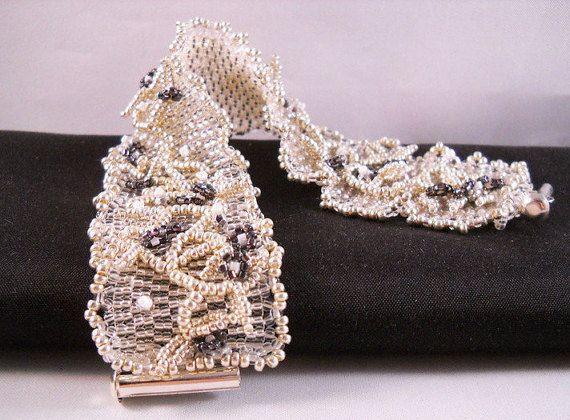 Seadbeady Zilver Kristal Kralen Armband met Wijnrank door Seadbeady