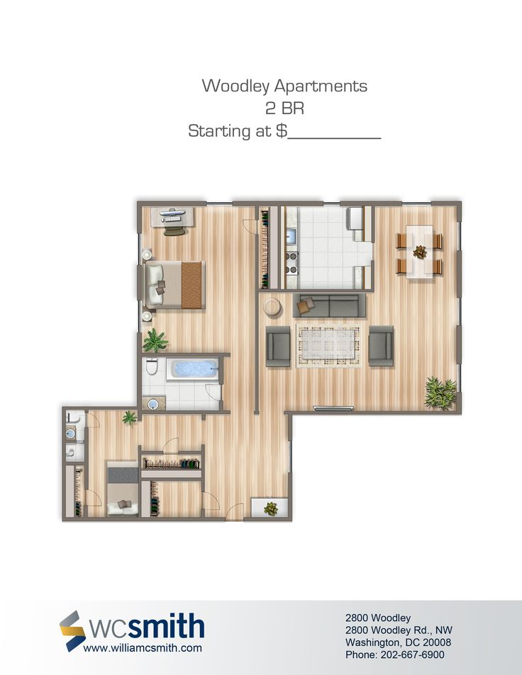 2 Bedroom Floor Plan   2800 Woodley in Northwest Washington DC   WCSmith   Apartments. 10 best 2629 39th Street images on Pinterest