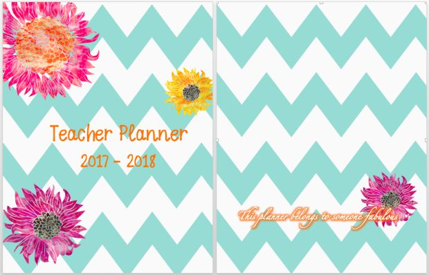 Chevron chic Teacher Planner Covers 2017-2018 and many more pages!  Free Download!!