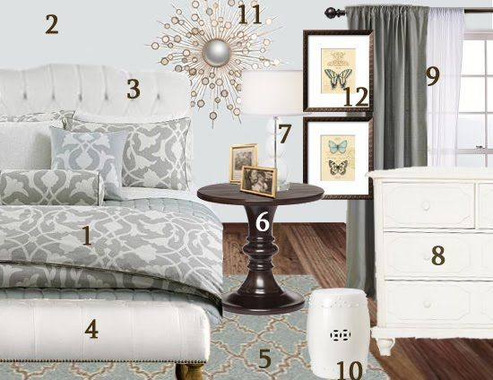 Meadow Lake Cottage Romantic Master Bedroom Getaway Mood Board With Barbara Barry Bedding