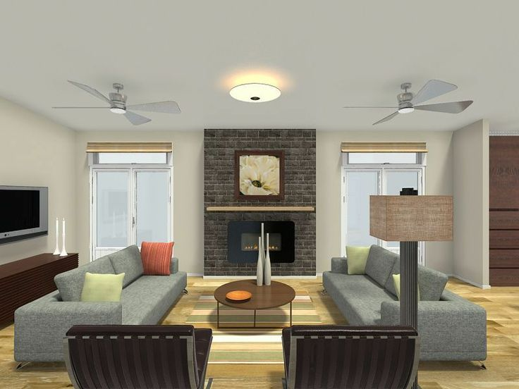 3d floor plan for a living room with dual sofas hardwood flooring and a fireplace with view to 3d design room planner