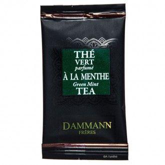 Thé vert à la menthe de Chine de la maison DAMMANN FRÈRES, à découvrir sur http://www.alunithe.com/sachets-de-the/marques/sachets-thes-dammann-freres/sachet-the-dammann-vert-menthe.html - #dammann #frères #menthe #nanah #gunpowder #thé #vert #chine
