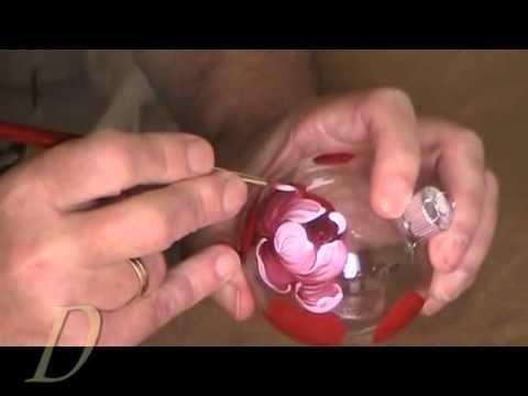 Bemalte Weihnachtskugeln - Personalisierte Glaskugeln - Christbaumkugeln