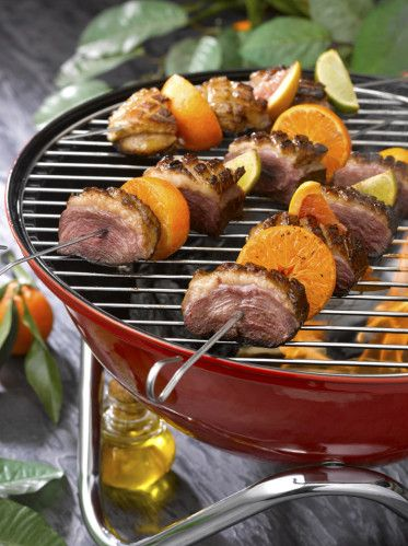 Les brochettes de Magret de canard aux agrumes #magret #cuisine #recette #printemps