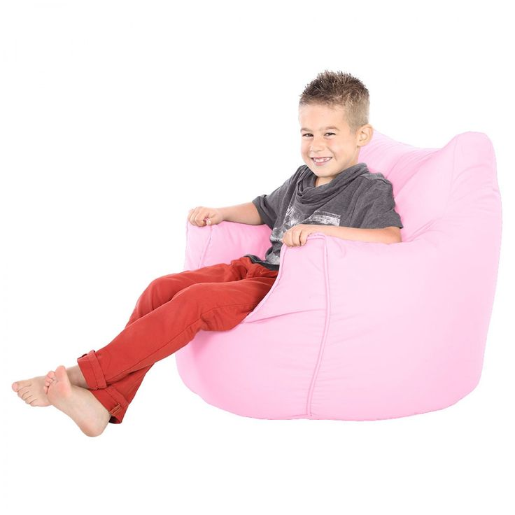 Comfy Childrens Armchair Baby Pink Beanbag