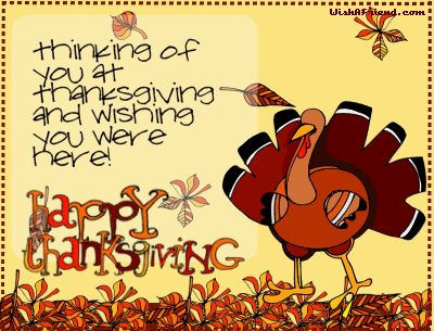Thanksgiving Turkey Facebook Graphic - Thinking Of You At Thanksgiving