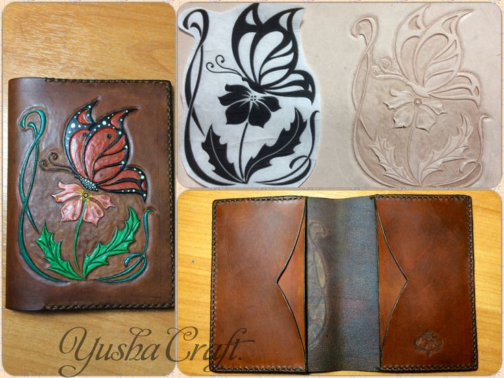 Leather, handmade Yusha Craft. Passport cover Обложка для паспорта