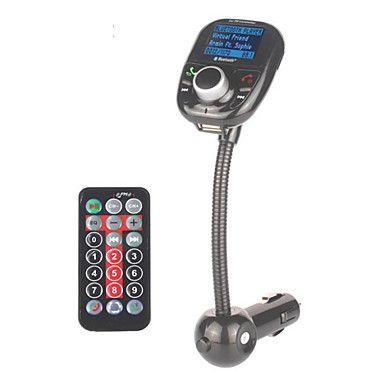 carro mp3 player de áudio Bluetooth transmissor fm com modulador FM sem fio carregador kit mãos livres lcd tela usb de 4759607 2016 por €70.95