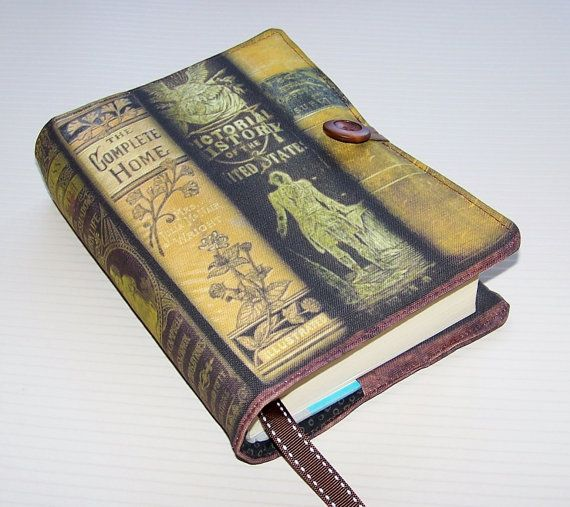 Fabric Book Sleeve Antique Victorian Books by WhimsyWooDesigns, £17.00
