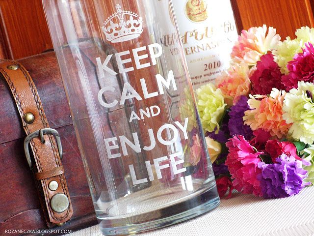 Rozaneczka: Keep Calm and Enjoy Life | Karafka do wina